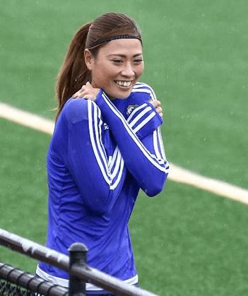 カナダ、エドモントン、W杯期間中の宇津木瑠美選手